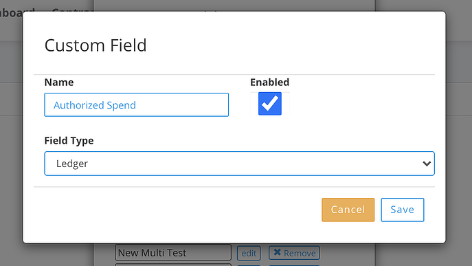 custom field example contract management system