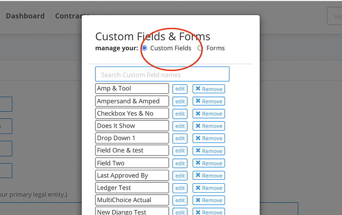 forms example contract management system