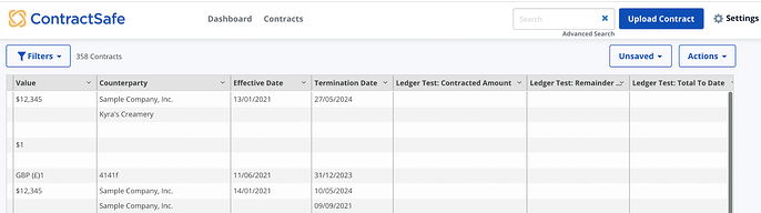 ledger example contract management system