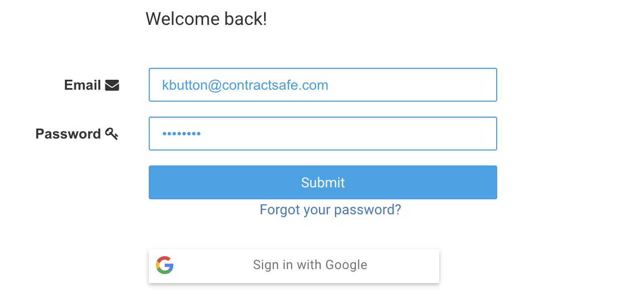sign in with google instructions contract management system