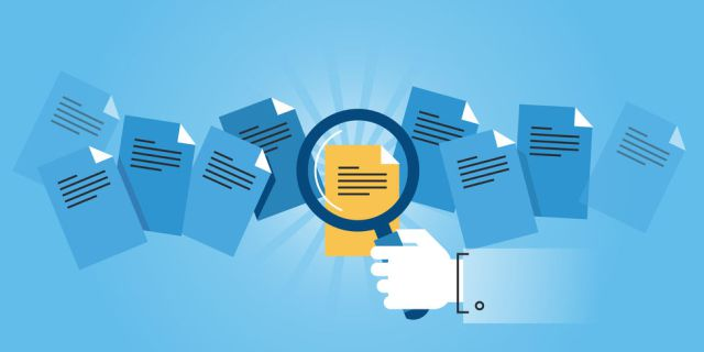 Document-search-blue-vector